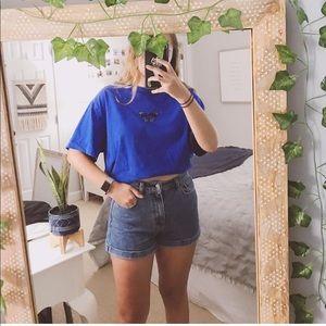 ❁ Blue butterfly tee ❁